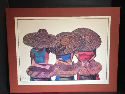 """Signed/Numbered """"Mellee"""" Print by William Kwamena-Poh African American Art  #353"""
