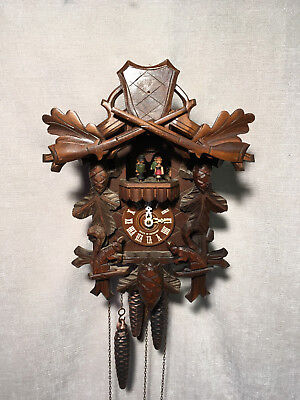 Black Forest REGULA Mechanical Musical, Dancers & Moving Squirrels cuckoo clock
