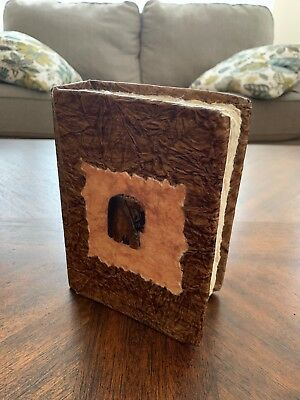 Elephant Cover ~ Wooden ~ Natural Paper ~ Photo Picture Journal Album