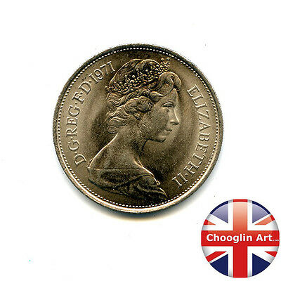 A 1971 British Cupro-Nickel ELIZABETH II Ten new pence coin