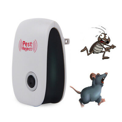 Ultrasonic Ant Mice Spider Mosquito Cockroach Insect Pest Repeller US/EU Plug