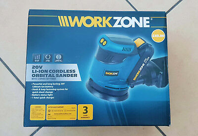 Workzone 20V Li-Ion Cordless Orbital Sander