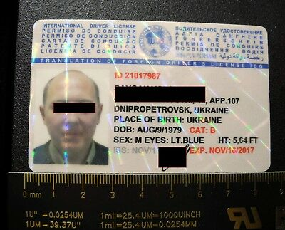 Driver's License. International. Driving Licence. Original.