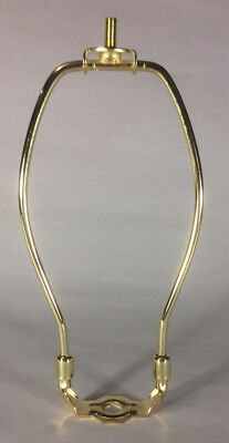 """6"""" Brass Plated Lamp Harp with Base & Protective Coating, regular weight  #HAR80"""