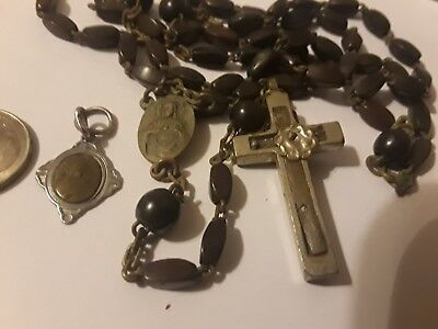St Teresa Medal Rosary Relic Very old Antique  please read