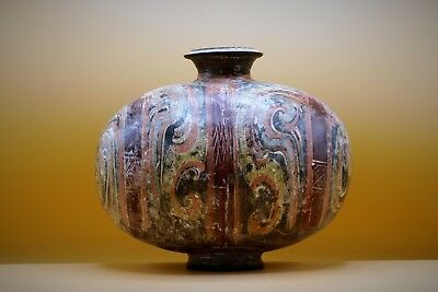 Museum Quality, CHINESE Han Dynasty, COCOON Pottery Vase GENUINE 2,000 years old