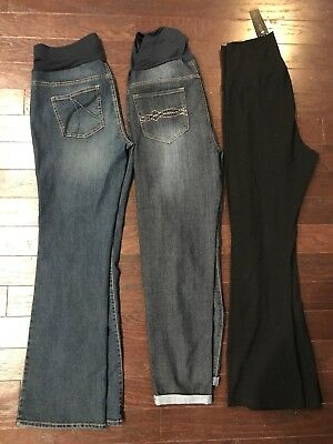 New Lot Of 3 Maternity Jeans Pants Size Large