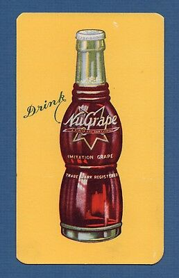 """NuGrape Ink Blotter - 3½""""x6"""", 1920's Embossed Bottle, Great Cond"""