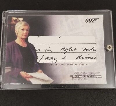 James Bond The Complete Relic Card RC2 James Bond Medical Report