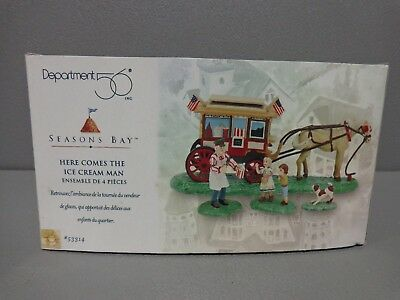 Dept 56 HERE COMES THE ICE CREAM MAN Seasons Bay Collection   #53314