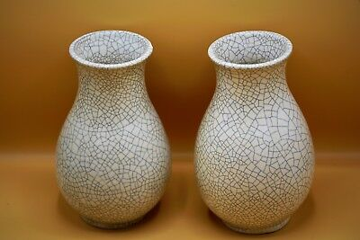 19th Century FINE Large GENUINE Pair of Geyao CHINESE Antique CRACKLE WARE Vases