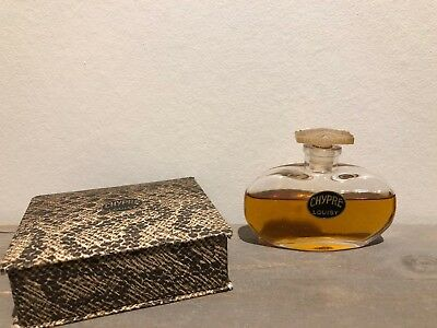 Rare vintage Chypre by Louisy perfume bottle flacon with pretty stopper + box