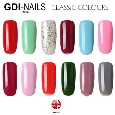 UK New GDi Nails Classic Color Range UV/LED Soak Off Gel Nail Polish TOP BASE