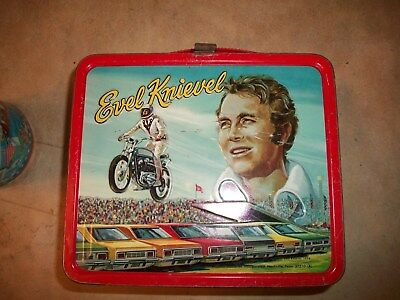Vintage Evel Knievel Lunchbox & Thermos