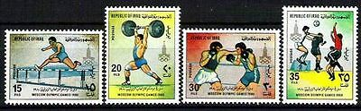 IRAQ 1980 Moscow Russia  Olympic Games Scott No. 968 - 971  MNH