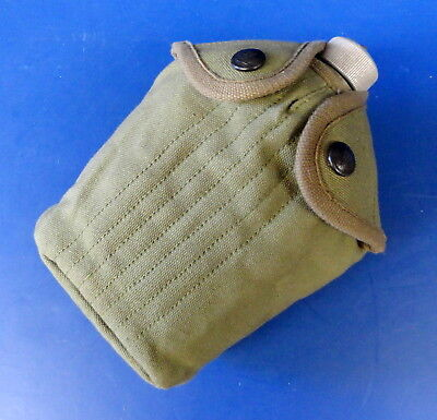 Us Model M-1910 Eagle Snap Canteen Cover W/1918 Dated Canteen