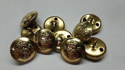 WWI WW1 Imperial German Kaiserliche Marine Navy Brass Tunic Buttons 10 pc REPRO