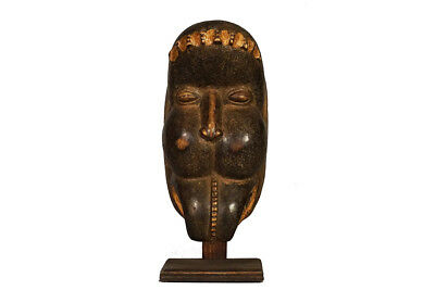 "Dan Bete African Mask 13"" - Ivory Coast w/stand"