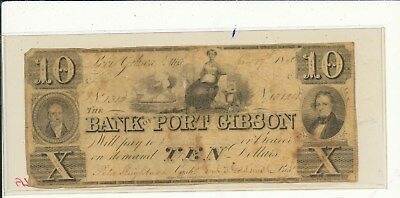 1860 $10 Bank of Gibson Miss