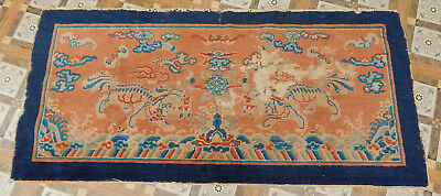 ANTIQUE ART DECO CHINESE HAND MADE RUG 158X74cm