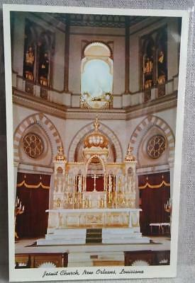 New Orleans Louisiana Jesuit Church Genuine 1956 Curteich Post Card
