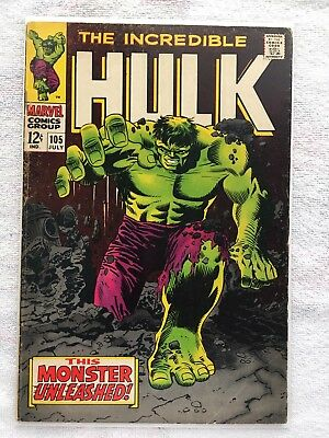 Incredible Hulk #105 (Marvel 1968) 1st Appearance of the Missing Link Silver Age