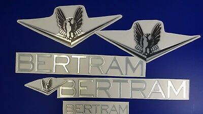 """Bertram Boats Emblem 22"""" + FREE FAST delivery DHL express- Stickers Set - Decal"""