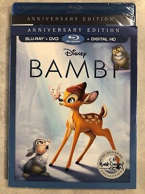 Disney Bambi Blu Ray & DVD Slipcover Canada Bilingual LOOK Signature Collection