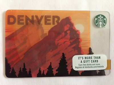 Starbucks Denver Gift Card 2015 Limited Edition - NO $ VALUE Brand NEW