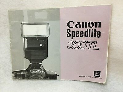 OEM Genuine Canon Speedlite 300TL Instruction Manual Guide Book in English 1985