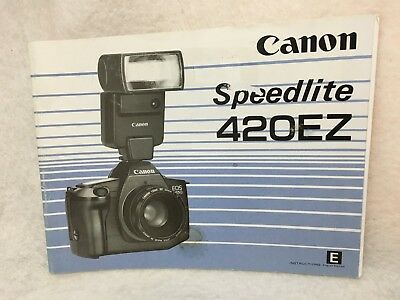 OEM Genuine Canon Speedlite 420EZ Instruction Manual Guide Book in English 1986