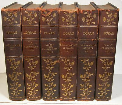 John Doran, 6 limited edition books, 1 of 26 copies, 3/4 leather, illustrated