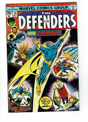 Defenders #28, FN 6.0, 1st Full Appearance Starhawk, Guardians of the Galaxy