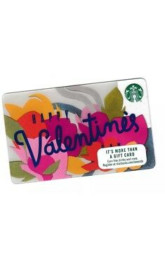 Starbucks collectible gift card no value mint #105 Happy Valentine's Day