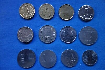 India - 12 assorted coins - ALL different