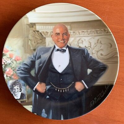 Edwin M Knowles Plate Little Orphan Daddy Warbucks 1982