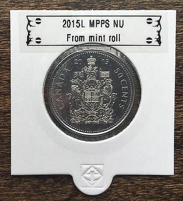 CANADA 2015 New 50 cents Coat of Arms of CANADA (BU directly from mint roll)
