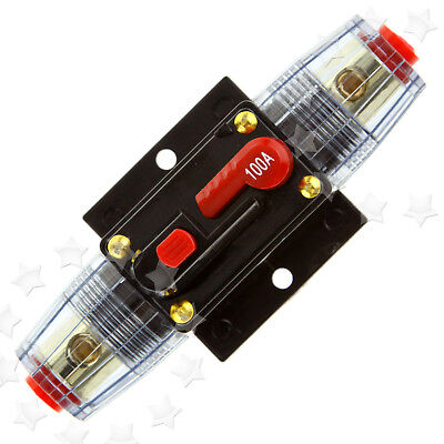 Professional 12V DC 100 A AMP Car Audio Inline Circuit Breaker Fuse NEW