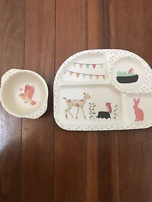 Love Mae Bamboo Toddler Plate And Bowl