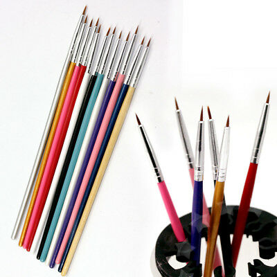 12pcs Nail Art Tips Design Wooden Paint Drawing Dotting Pen/Brush/Liner Set CS