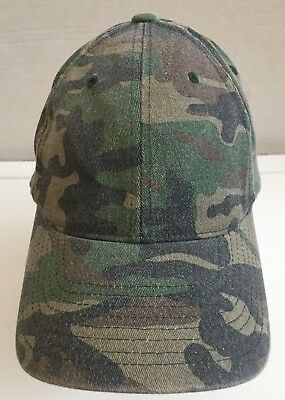 Flexfit Garment Washed Camo Fitted Flex Fit Cap Outdoors Camouflage  Baseball Hat facc062b2258
