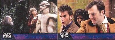 2 Doctor Who Timeless Blue Foil Parallel Cards 06/99 28 67 The Keeper Of Traken