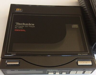 Excellent Vintage Technics SL-XP5 Personal CD Player With Case Missing +/-6V PSU