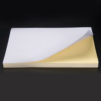 100 Sheets A4 Label Sticker Office Printing Paper Self Adhesive For Printer New