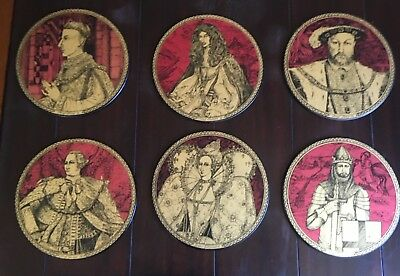 Placemats. Kings and Queens of England