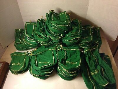 Lot of 120 Green Crown Royal Bags 750ml Quilting Sewing