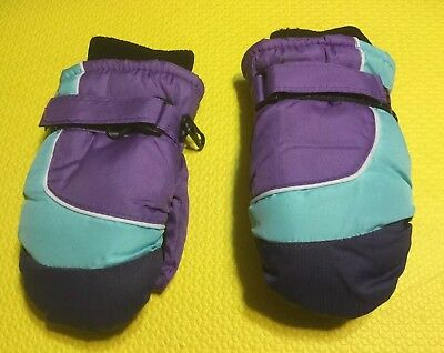 TODDLER BOY's SNOW MITTENS with Fleece Lining