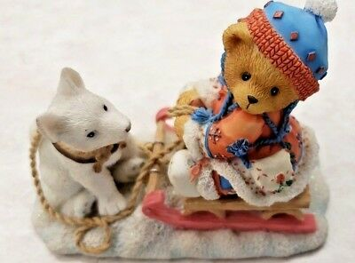 Enesco Cherished Teddies Erica 1996 Friends Are Always Pulling For You 176028