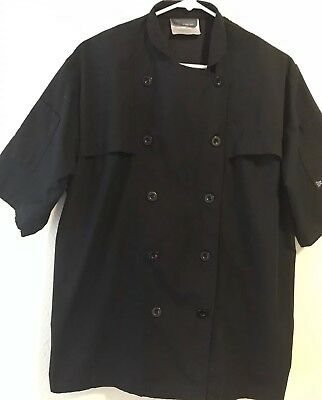 Cook Cool Chef's Shirt By HAPPY CHEF Black Vented Size Med