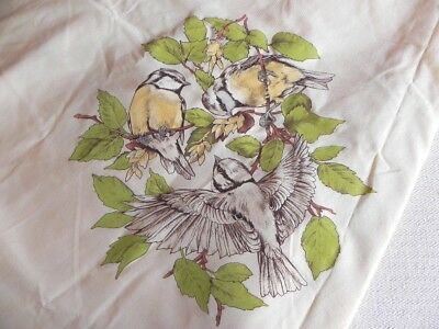 Hobbytex Birds Large Round Tablecloth - Partly Painted